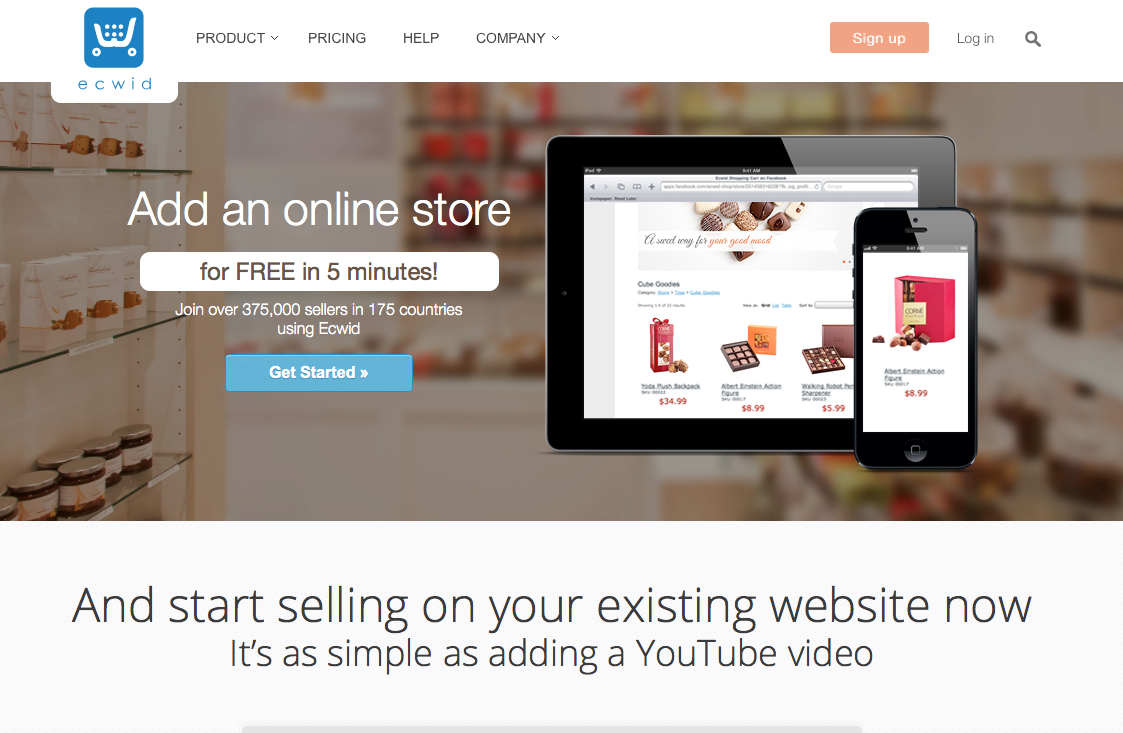 Ecommerce website Snap